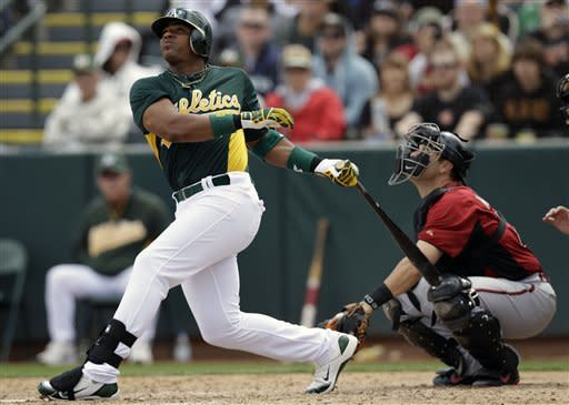 Ramirez homers for A's, Parker demoted after 7 BBs