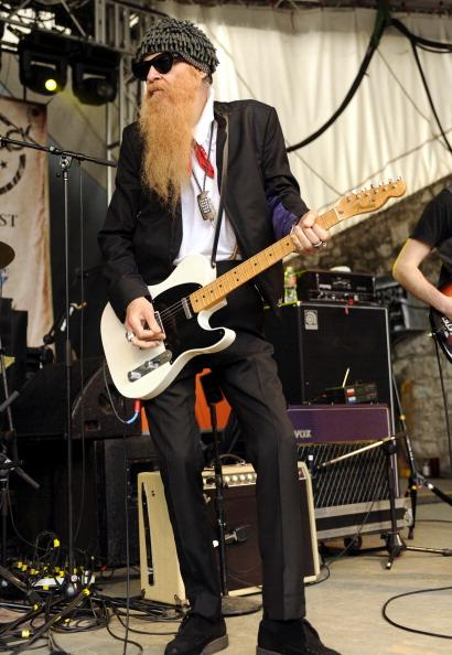 AUSTIN, TX - MARCH 17: Billy Gibbons of ZZ Top performs with The Cringe at Rachael Ray's Feedback Party at Stubbs Bar-B-Q in Austin as part of 2012 SXSW Music, Film   Interactive Festival Day 9 on March 17, 2012 in Austin, Texas. (Photo by Tim Mosenfelder/Getty Images)