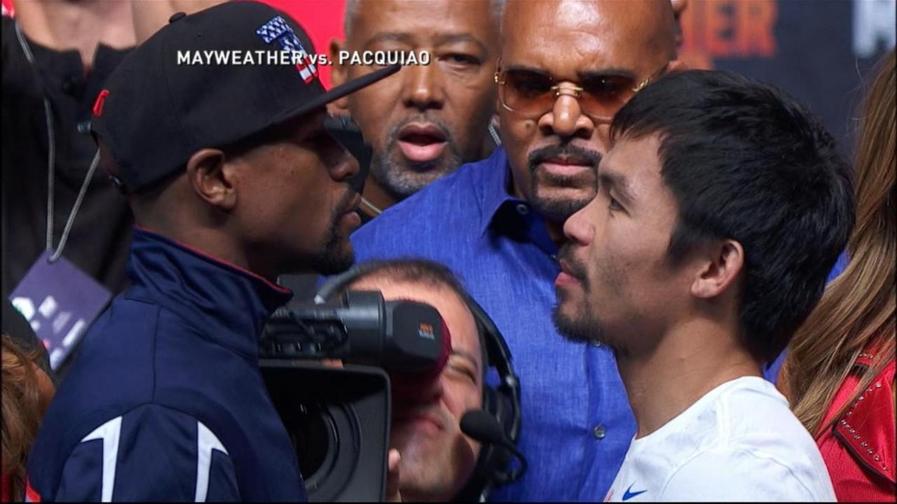 Million Dollar Stare-Down: Mayweather vs. Pacquiao