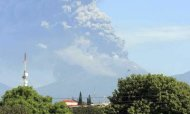 Thousands Flee As Volcano Spews Ash Cloud