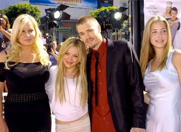 Premiere: Jennifer Coolidge, Hilary Duff, Chad Michael Murray and Julie Gonzalo at the Hollywood premiere of Warner Brothers' A Cinderella Story - 7/10/2004