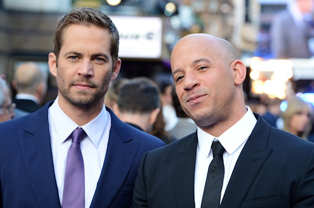 The late Paul Walker and Vin Diesel in London, May '13