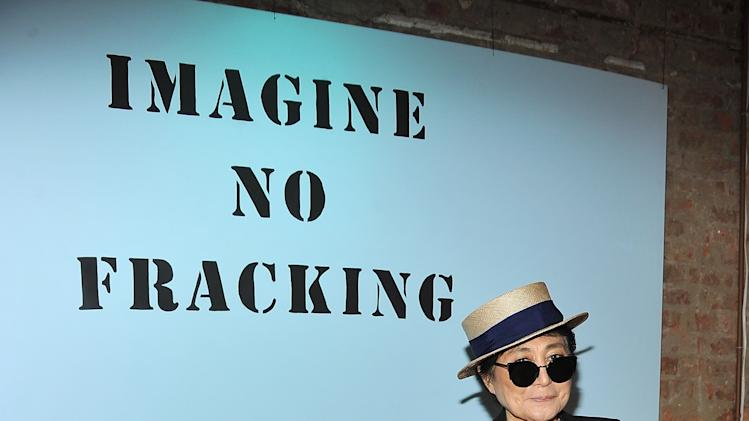 Yoko Ono's Imagine No Fracking Installation