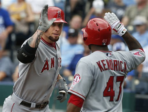 Angels beat Royals 5-2 to win 8th straight game