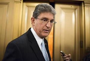 Senator Manchin speaks to the media on Capitol Hill in Washington