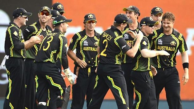 Australia celebrate a wicket against Ireland (Reuters)