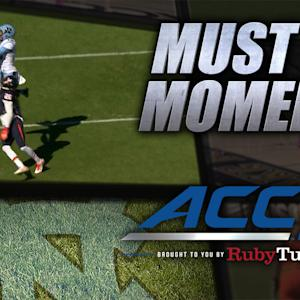UNC's Mack Hollins Makes Tremendous 57-Yard TD Grab | ACC Must See Moment