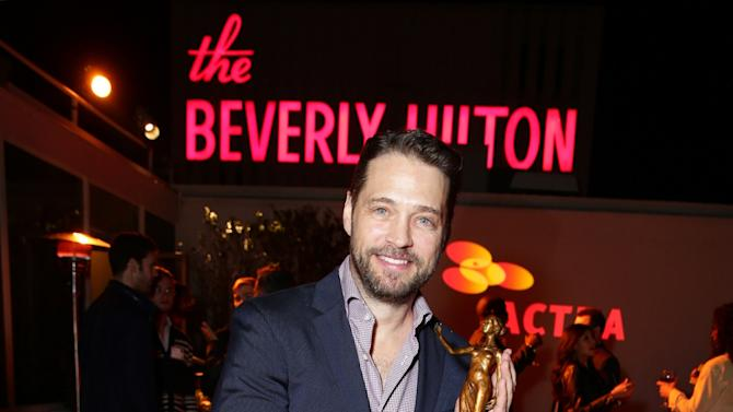 Jason Priestley honored with the 2015 ACTRA National Award of Excellence by Canadian performers held at The Beverly Hilton Hotel on Saturday, January 31, 2015 in Beverly Hills, CA. (Photo by Eric Charbonneau/Invision for ACTRA/AP Images)