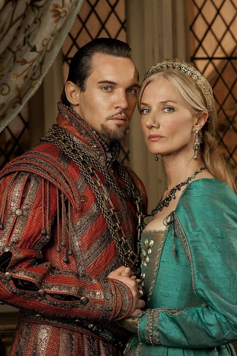 "Jonathan Rhys Meyers as Henry VIII and Joely Richardson as Catherine Parr in ""The Tudors."""
