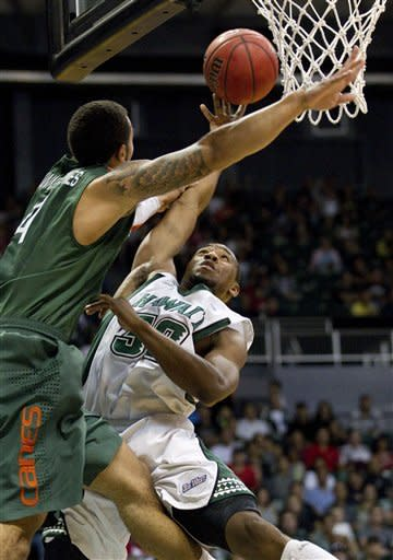 Scott leads Miami over Hawaii 73-58