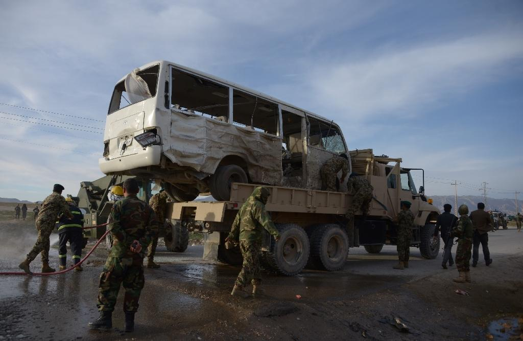 Three soldiers killed in suicide attack on Afghan army bus