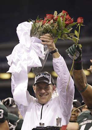 Dantonio shrugs off talk of job change