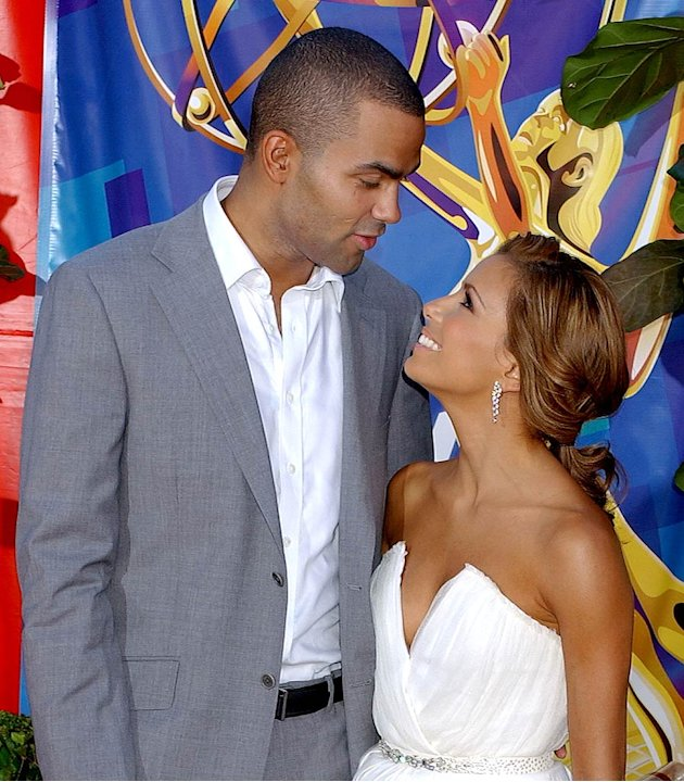 Eva Longoria and Tony Parker at The 58th Annual Primetime Emmy Awards.