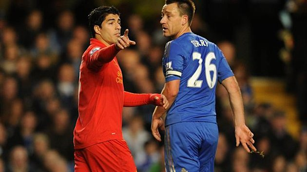 John Terry, right, and Luis Suarez, left, were involved in racial abuse cases this year