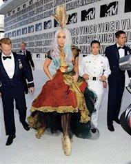Lady Gaga walks the white carpet
