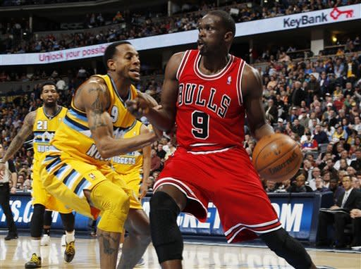 Faried's slams lead Nuggets past Bulls 128-96