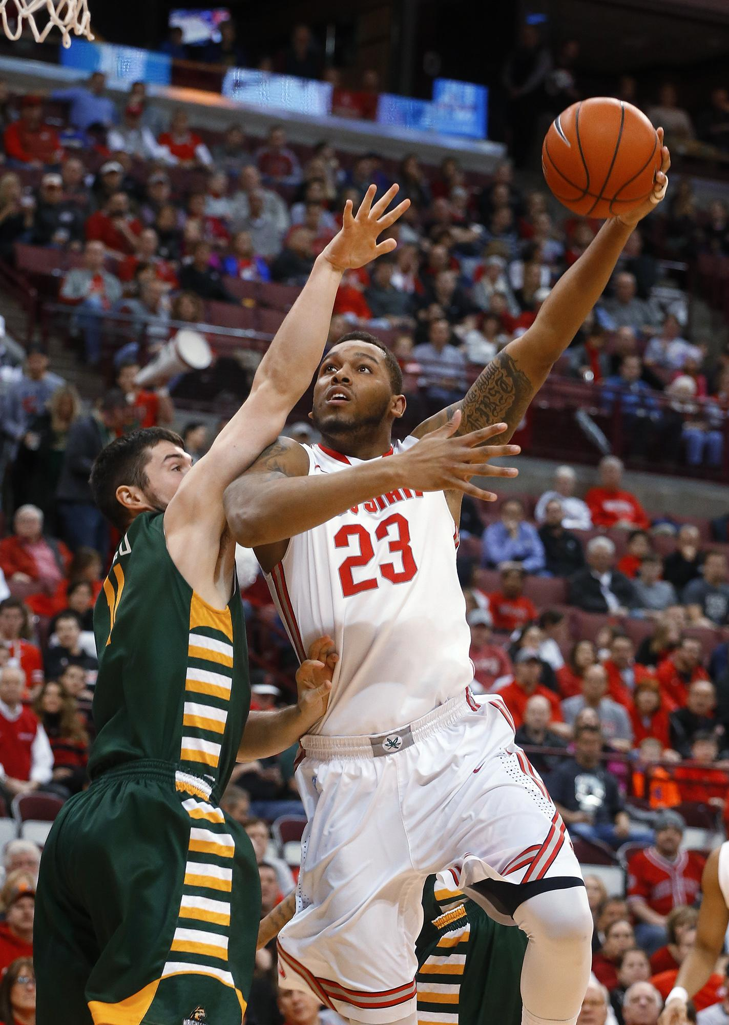 Russell has 24, leads No. 21 Ohio State to win