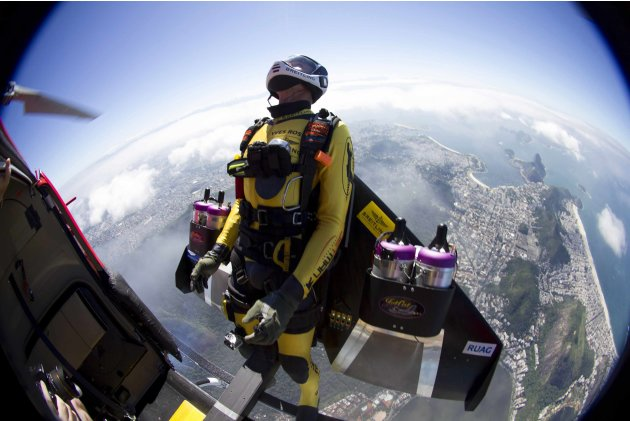 Yves Rossy, known as the Jetman, …