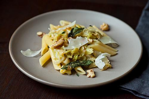 Weeknight Pasta with Caramelized Cabbage