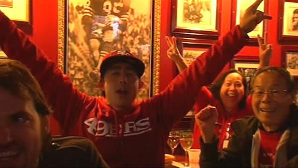 Bars and restaurants packed for 49ers playoff game