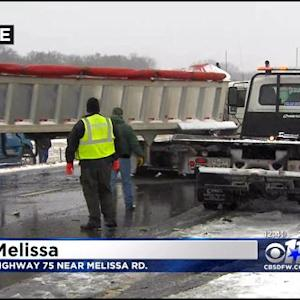 Crews Clearing 15-Vehicle Crash In Melissa