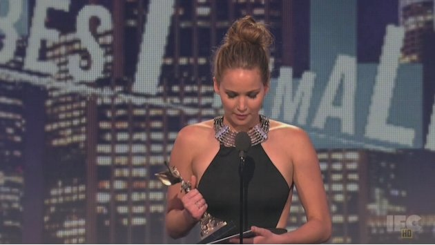 Jennifer Lawrence accepts …