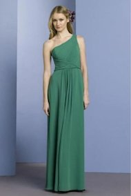 emerald green dress one shoulder