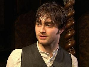 "Daniel Radcliffe on the set of ""The Woman in Black"" on November 29, 2010 -- Access Hollywood"
