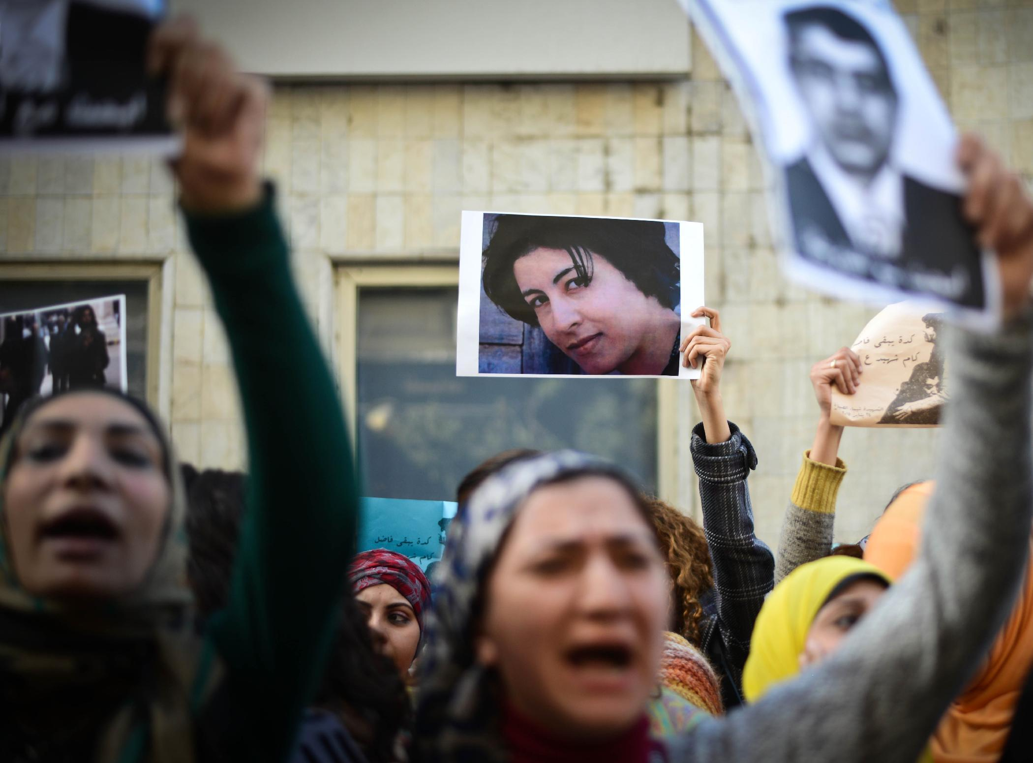 Women rally against Egyptian police after shooting
