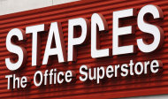 <p>               FILE - In this May 17, 2011 file photo, a Staples sign is displayed on the front of a Staple store, in Portland, Ore. Staples Inc. said Tuesday, Nov. 15, 2011, that its profit climbed 13 percent in the third quarter, helped in part by improved sales of office and break room supplies to businesses as well as promotional products. (AP Photo/Rick Bowmer)