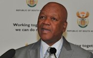 Minister of Justice and Constitutional Development, Jeff Radebe briefing the media at the Union Buildings on behalf of the Justice, Crime Prevention and Security Cluster. Picture: GCIS