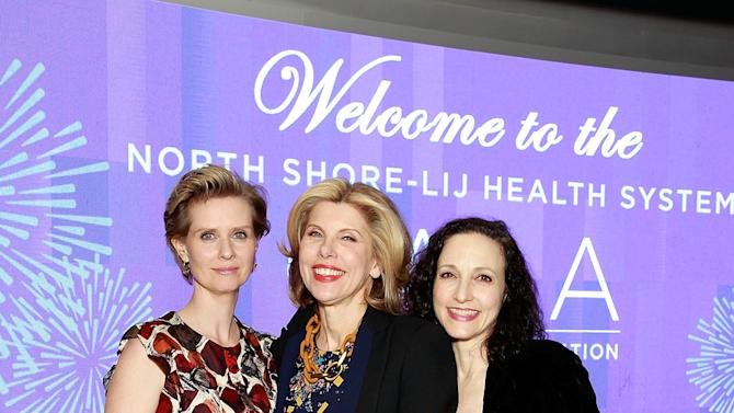 IMAGE DISTRIBUTED FOR NORTH SHORE-LIJ - Cynthia Nixon, Christine Baranski, and Bebe Neuwirth seen at North Shore-LIJ Health System Spring Gala, on Thursday, April, 25, 2013 in New York, NY. (Photo by Mark Von Holden / Invision for North Shore-LIJ /AP Images)