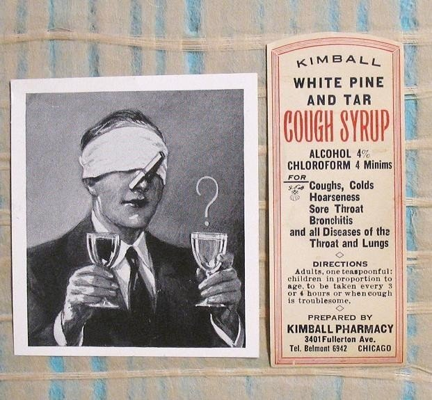 Kimball White Pine and Tar Cough Syrup