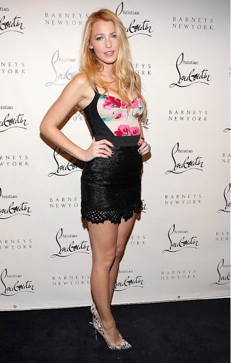 Blake Lively Louboutin Cocktail Party