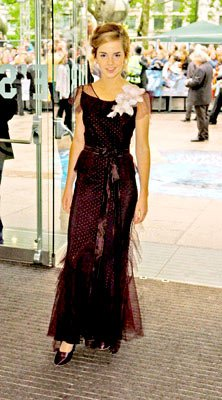 Emma Watson at the London premiere of Warner Brothers' Harry Potter and the Prisoner of Azkaban
