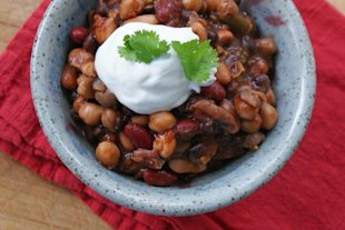 Vegetarian Three Bean Chipotle Chili
