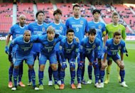 South Korea's Ulsan Hyundai players pose for a photo prior to their Club World Cup match against Monterrey on December 9. Ulsan lost 3-1 to CONCACAF winners Monterrey from Mexico in the Club World Cup quarter-finals