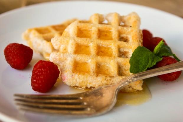 Meyer Lemon Waffles