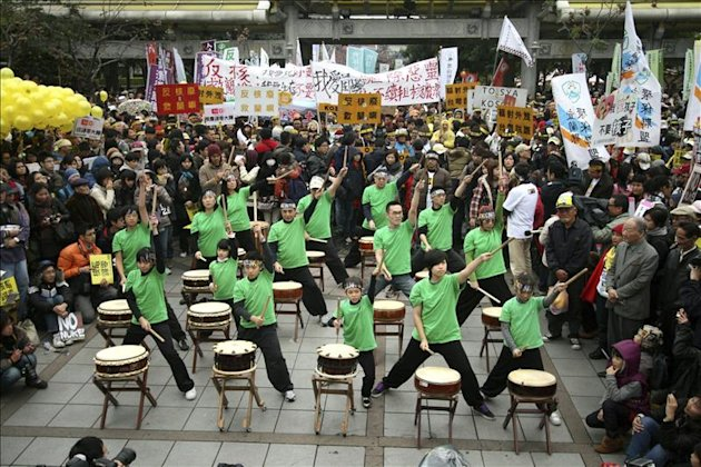 Manifestacin antinuclear en Taipei, Taiwn. EFE/Archivo