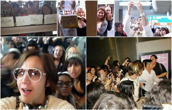French fans greet Jang Geun Suk's arrival in France