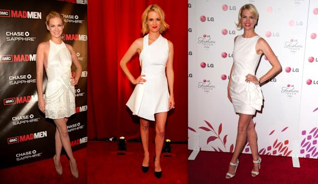 January Jones' white dresses