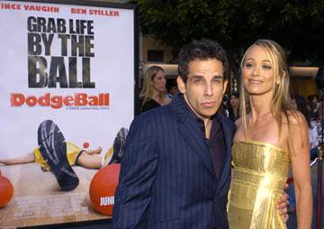 "Ben Stiller shows off ""Blue Steel"" with wife Christine Taylor at the Los Angeles premiere of 20th Century Fox's Dodgeball: A True Underdog Story"