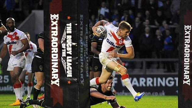 Sam Tomkins scored two tries in England's win over the Exiles