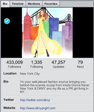 DKNY Brand in Fix Over Alleged HONY Photo Snatch image DKNY TwitterProfile