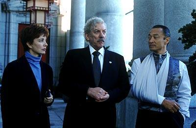Anne Archer , Donald Sutherland and Cary-Hiroyuki Tagawa in Warner Brothers' The Art of War