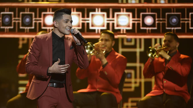 Luis Coronel performs at the Latin American Music Awards at the Dolby Theatre on Thursday, Oct. 8, 2015, in Los Angeles. (Photo by Chris Pizzello/Invision/AP)