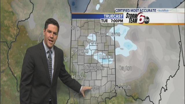 Tuesday's Forecast: Snow flurries possible