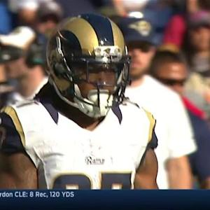 St. Louis Rams running back Tre Mason's 26-yard reception