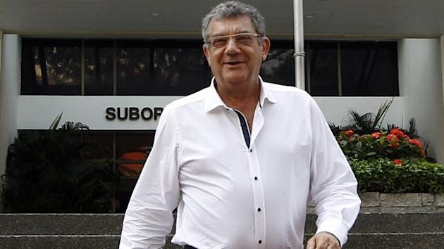 Imad Nasr, Honorary Vice Consul of Lebanon in Singapore, leaves court during a hearing regarding Lebanese match officials who have been accused of matchfixing (Reuters)