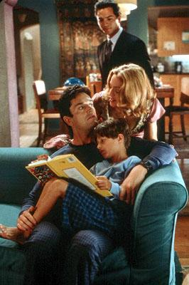 Ben ( Benjamin Bratt ) looks on at the unconventional family of Robert ( Rupert Everett ), Sam ( Malcolm Stumpf ) and Abbie ( Madonna ) in Paramount's The Next Best Thing